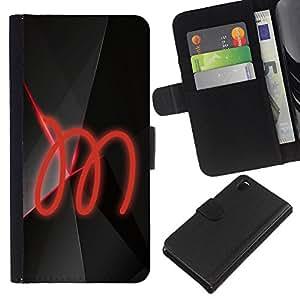 KLONGSHOP // Tirón de la caja Cartera de cuero con ranuras para tarjetas - M - Sony Xperia Z3 D6603 //