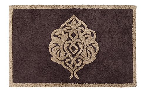 Five Queens Court Lafayette Traditional Jacquard Bath Rug Floor Mat, Cotton, Mink (Lafayette Bath)