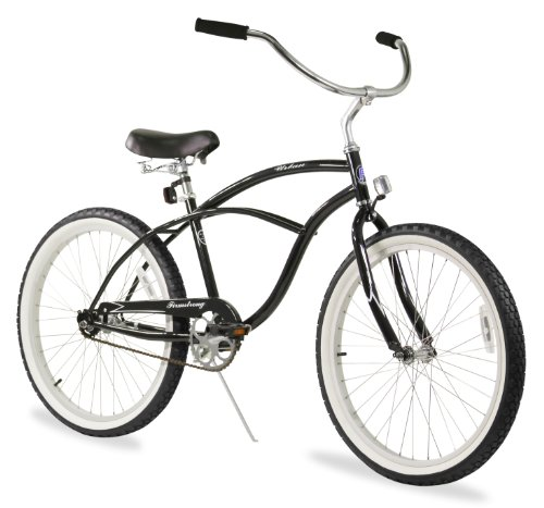 Firmstrong Urban Man Single Speed Beach Cruiser Bicycle, 24-Inch, Black