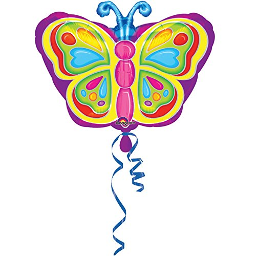 [Amscan 18 Inch Butterfly Design Foil Balloon (One Size) (Multicoloured)] (Jackass Party Boy Costume)