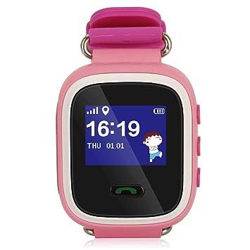CplaplI Reloj de Pulsera Inteligente, LCD SOS localización, Llamada, Seguridad, Control de