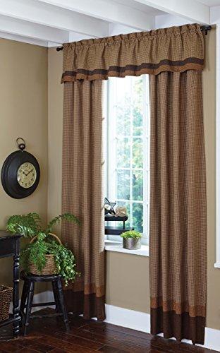 - Park Designs Shades of Brown Lined Border Panel 36 x 84