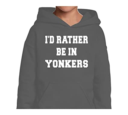 4a6e2173ad4c Mighty Ambitious Youth Hoodie ID Rather Be In Yonkers XS Funny Kids Sweater