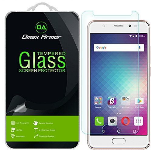 [2-Pack] Dmax Armor for BLU Life ONE X2 Mini [Tempered Glass] Screen Protector with Lifetime Replacement