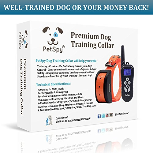 PetSpy-Remote-Dog-Training-Shock-Collar-for-Dogs-with-Beep-Vibration-and-Electric-Shocking-Rechargeable-and-Waterproof-E-Collar-Trainer