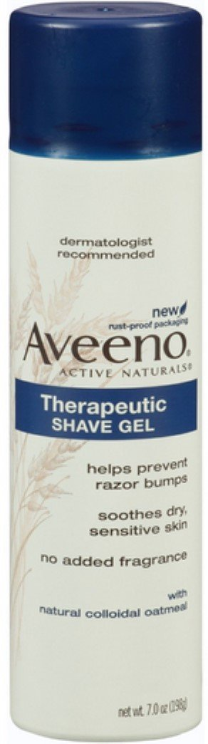 Aveeno Active Naturals Therapeutic No Added Fragrance Shave Gel, 7 OZ (Pack of 6)