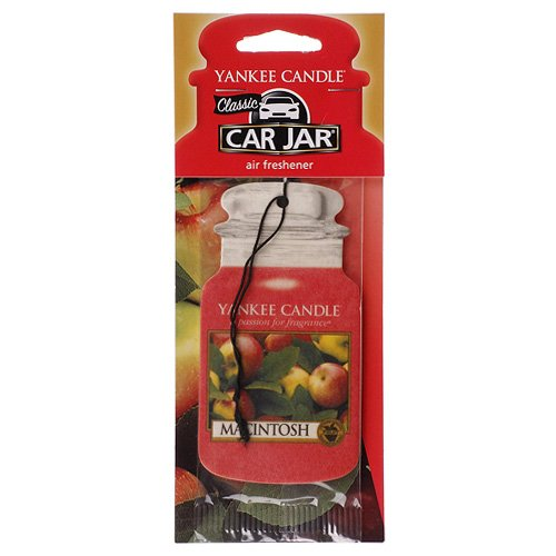 Paper Air Freshener - Yankee Candle Classic Paper Car Jar Hanging Odor Neutralizing Air Freshener, Macintosh Scent