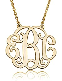 Monogram Necklace Personalized Initial Name Necklace