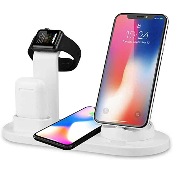 KONKY Cargador Inalámbrico Qi Wireless Charger & 3-in-1 Base ...