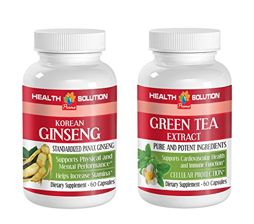 libido health - KOREAN GINSENG - GREEN TEA - COMBO - Ginseng root extract - (2 Bottles Combo)