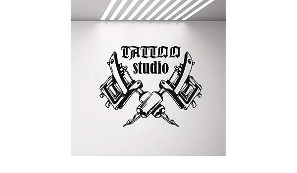Ajcwhml Máquinas de Tatuaje Etiqueta de la Pared Sala de Tatuajes ...