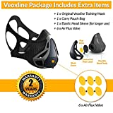 VEOXLINE Training Mask | Sport Workout for Running Biking Fitness Jogging Cardio Endurance Exercise Breathing with Air Flow Level Regulator for Men Women | Simulate High Altitude Elevation Effects by