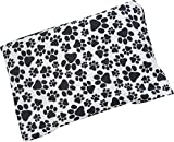 Caylee's Creations Microwavable Corn Filled Heating Pad and Cold Pack/Washable 100% Cotton Cover (7.5'Wx11'L, Paw Prints)