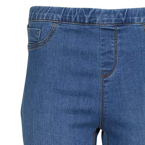 PLUS Denim 56 Stretchy Tailles avec Women Jeans Skinny 36 Clair Bleu Mesdames poches Jegging HFZSS