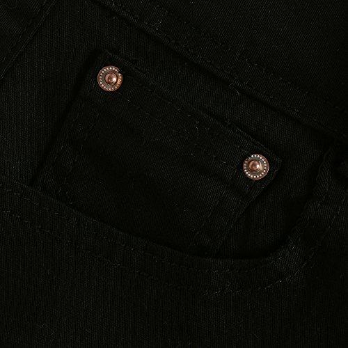 Jeans Taille Casual Mode Pantalons Femme Court SANFASHION Basse Dlav Noir qaWRgwpnXZ