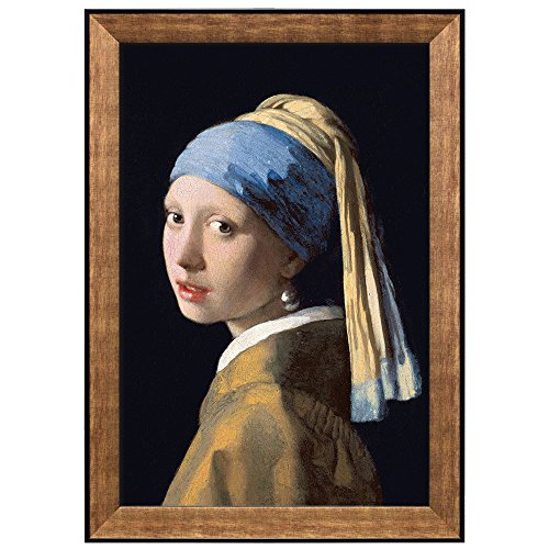 Girl with the Pearl Earring by Johannes Vermeer Framed Art