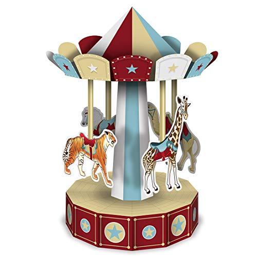 3D Vintage Style Circus Carousel Centerpiece 10