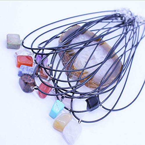 (Wholesale 12 PCS Fashion Irregular Natural Stone Pendant Necklace Gift)