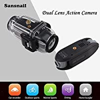 Sansnail New Novatek 96655 Chip Dual Lens Action Camera Outdoor Waterproof Cam 60m Video Camera Sport Camera 360 degrees Dual-Cam