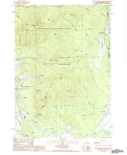 USGS Historical Topographic Map | 1987 North Conway East, NH |Fine Art Cartography Reproduction - Conway Of Map North Nh