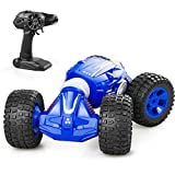 Remote Control Car, Rc Cars with 2.4Ghz, 4WD Off Road Monster Truck for Boys & Girls, 1/16 Scale Fast Speed Deformation Stunt Car with 2 Rechargeable Batteries