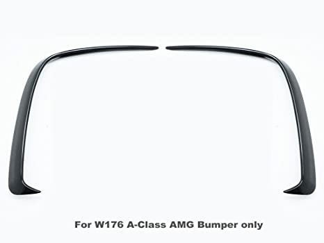 Accesorios Benz de repuesto: faldones de parachoques traseros Aero, accesorios elegantes para parachoques negros