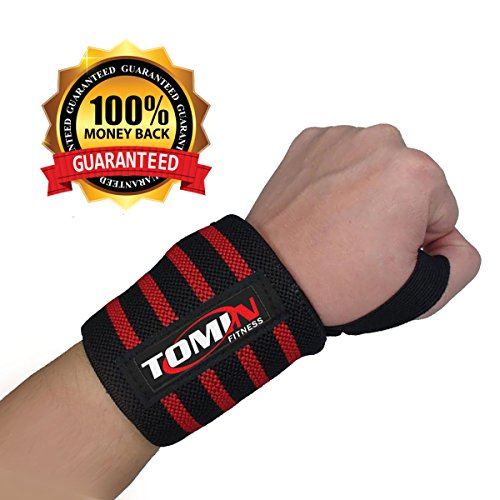[FLASH Sale- Wrist Wraps for Weightlifting with Thumb Loop- ONE PAIR-Crossfit and Fitness- Adjustable 18