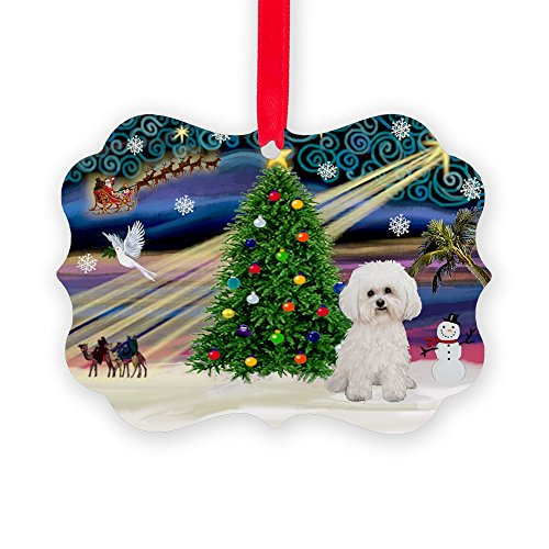 CafePress Xmas Magic/Bichon #2 Christmas Ornament, Decorative Tree Ornament
