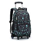 Best Rolling Backpacks For Girls - Bageek Rolling Backpack Boys Girls Wheels Backpack Kids Review