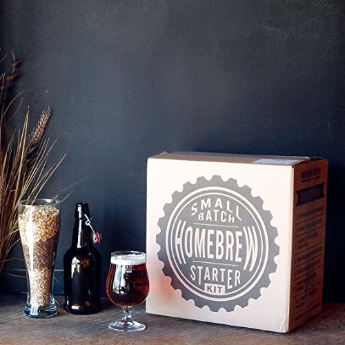 1 Gallon Small Batch Beer Home Brewing Starter Kit with Caribou Slobber Brown Ale Beer Recipe Kit (Small Beer Brewing Kit compare prices)