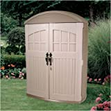 Step2 Lifescapes Highboy Storage Shed - Durable Outdoor Tools Organizer with Large Doors