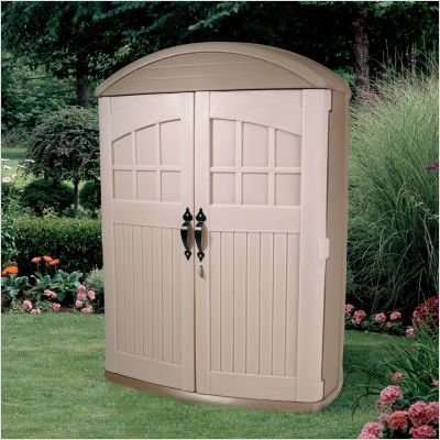 Step2 Lifescapes Highboy Storage Shed - Durable Outdoor Tools Organizer with Large Doors by Step 2