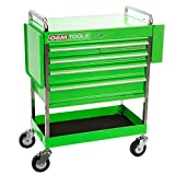 OEMTOOLS 24570 Professional Service Cart with Green 5 Drawer and 1 Tray