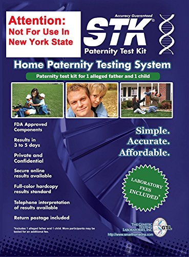 STK Paternity Test Kit - Includes All Lab Fees (Best Paternity Test Kit)