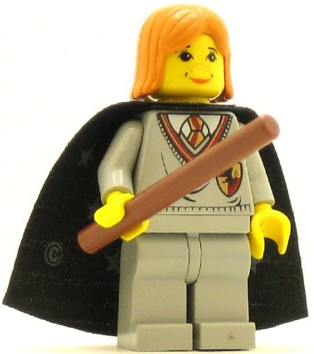 LEGO Harry Potter Minifig Ginny Gryffindor Shield Torso Light Gray Legs