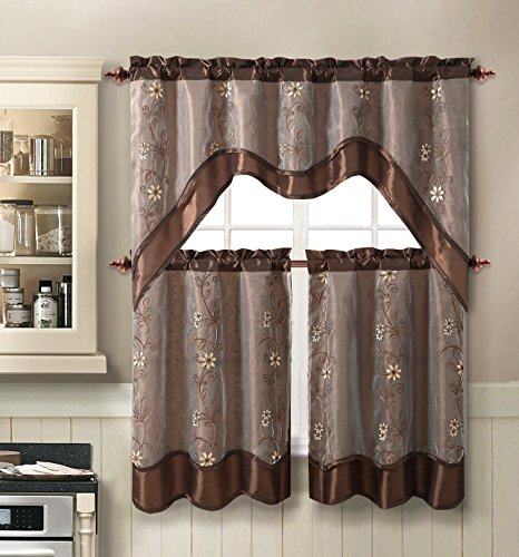 Amazon Kitchen Curtains Discount Store: Daphne Embroidered Kitchen Curtain Set By Victoria