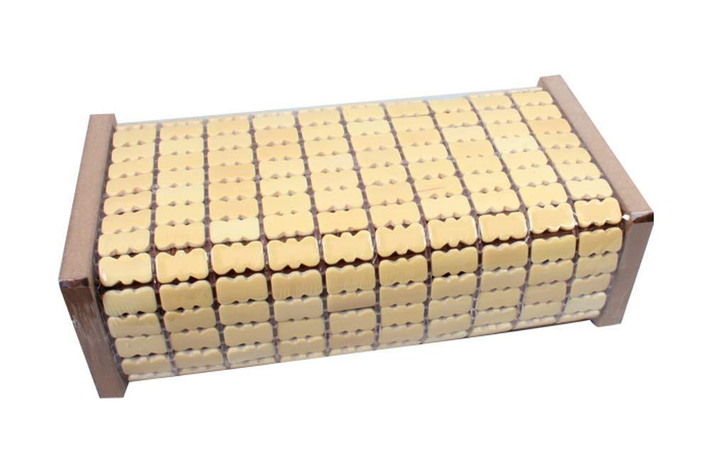 Living Plus Bamboo Wood Rectangular Block Brick Shape Breathable Bed Pillow (L-2)