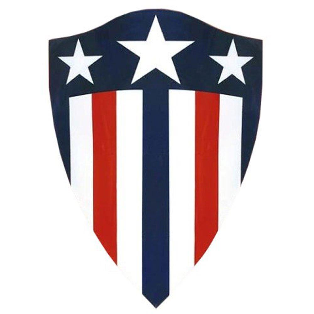 Captain America 1941 Shield Heater Shaped Replica - DeluxeAdultCostumes.com