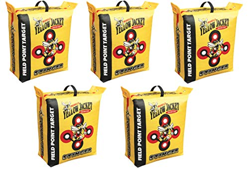 (Morrell Yellow Jacket Stinger Field Point Bag Archery Target - Great for Compound and Traditional Bows (5-Pack))