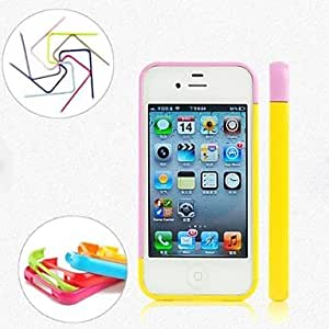 SHOUJIKE DIY Combination Multi Color Frame Case for iPhone 5/5S (Assorted Colors) , 8