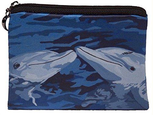 Dolphins Change Purse, Coin Purse - From My Original Painting, The Kiss