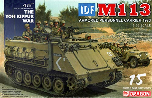Dragon 1/35 Israel Defense Forces IDF M113 Armoured Personnel Carrier / DML3608 1:35 Dragon IDF M113 Armored Personnel Carrier 1973 [Model Building KIT] ()