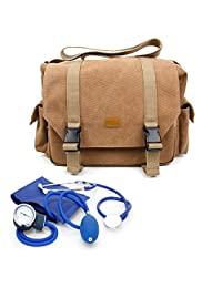 Cases For Nurse / GP / Doctor Medical Kit Bag - for Nursing / Home Visits Medical Supplies & Equipment - With Adjustable Interior Dividers And Long Shoulder Strap_CA