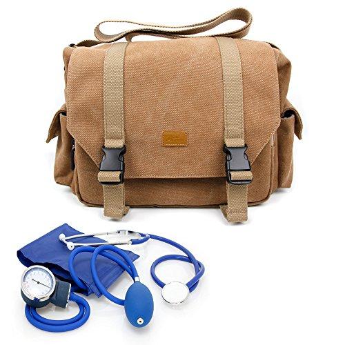 Medical Equipment Bag - DURAGADGET Nurse / GP / Doctor Medical Kit Bag - for Nursing / Home Visits Medical Supplies & Equipment - With Adjustable Interior Dividers And Long Shoulder Strap (270 x 150 x 190 mm)