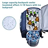Hap Tim Picnic Basket Backpack for 4 Person with