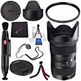 Sigma 18-35mm f/1.8 DC HSM Art Lens for Canon #210101 + Lens Pen Cleaner + Microfiber Cleaning Cloth + Lens Capkeeper + Deluxe Cleaning Kit + Flexible Tripod Bundle (International Model No Warranty)
