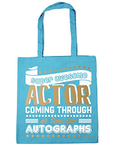 Autographs for litres Super Shopping Surf x38cm Coming Bag Beach Tote No 42cm HippoWarehouse Awesome Time Blue Through Actor 10 Gym B0w8pTx
