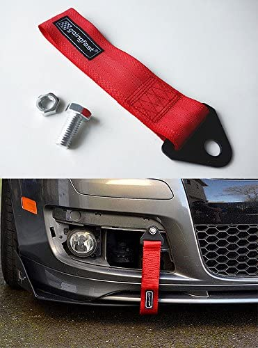 For Fiat Univer Motor Racing Tow Strap Loop Race Rally Drift Bumper Hook Blue