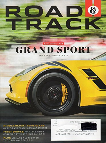 Road & Track Magazine 2016 FIRST DRIVES: FIAT 124 SPIDER, JAGUAR F-TYPE SVR, NISSAN GT-R ()