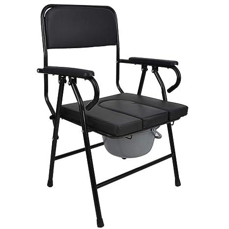MMZZ Toilet Chair Silla con Inodoro,Silla Plegable de Acero ...